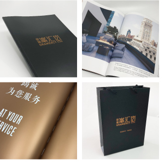 Real estate brochure and bags